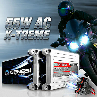 GENSSI HID Headlight Conversion Kit 6K w/Adapters for Yamaha YZF R1 R6 2009-2015