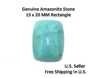 100% Natural Amazonite Cabochon 15 x 20 MM Rectangle Cushion (See Variations)