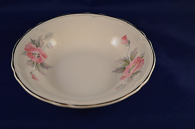 Edwin Knowles Usa Semi Vitreous Vintage Pink Floral Bowl #y