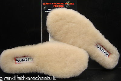 Genuine Childrens Hunter Hunters Boots Fleece Shearling Insoles Size Uk 8 Eur25