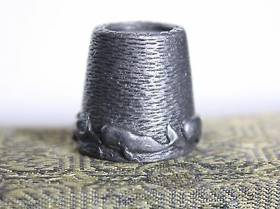 Vintage Pewter Sperm Whales Sewing Thimble