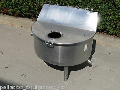 75 Gallon Stainless Steel Hinged Lid Balance Tank Food Processing Grade