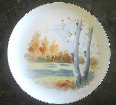 Hand Painted 10.5 Inch Display Plate Aspen Grove at Meadow's Edge