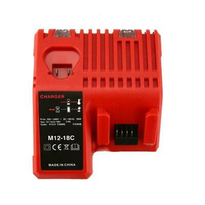 Battery Charger for Milwaukee M12-18C 48-59-1812 M18B4 18V Li-ion Battery