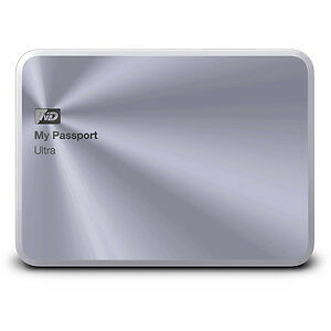 WD My Passport 2TB Ultra Metal Edition WDBEZW0020BSL-PESN Silver Portable USB3.0