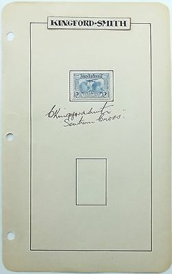 Charles Kingsford Smith Noted Australian Pilot Disappeared 1935 Autograph 'Rare