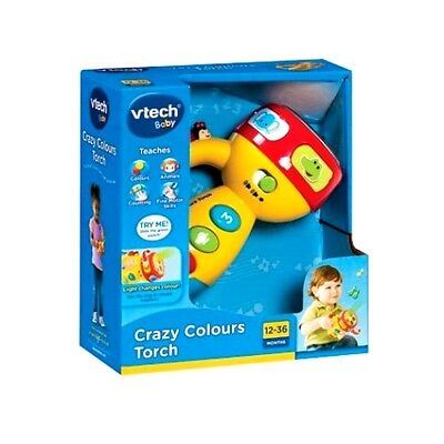 New Vtech Baby Infant Toy Play Crazy Colours Torch 124003