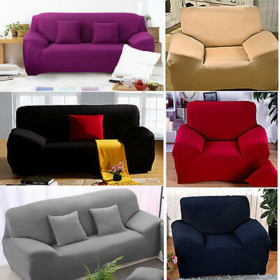 1/2/3 Seater Sofa Slipcover Stretch Protector Soft Couch Cover Washable Easy Fit