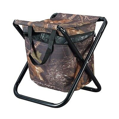 Caribee Compact Camping Fishing Folding Stool With Built In Cooler Camo