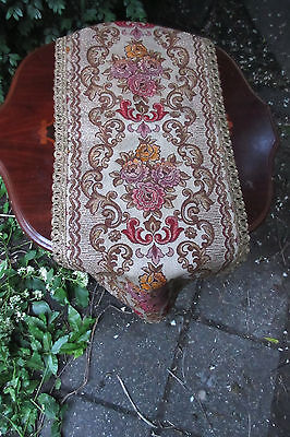 Table Runner Brocade Belgium Vintage Metall  Brocade trim