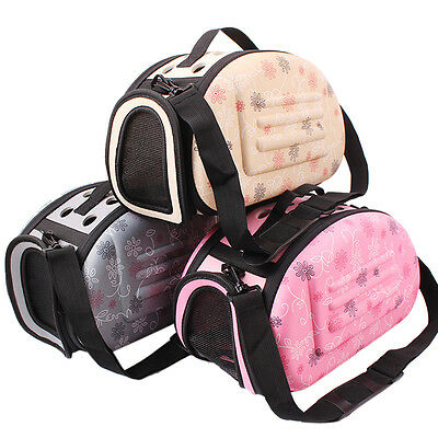 Pet Dog Cat Puppy Carrier Comfort Travel Tote Breathable Cage Bag Case Kennel