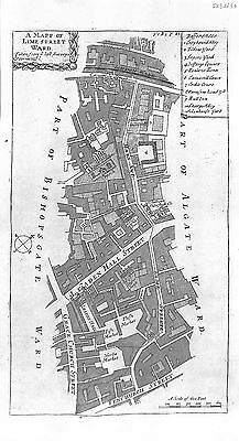 Antique maps, Lime Street Ward