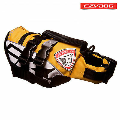 EZYDOG DOG FLOTATION DEVICE - Life Jackets For Dogs - Yellow Micro X-Small FLOAT