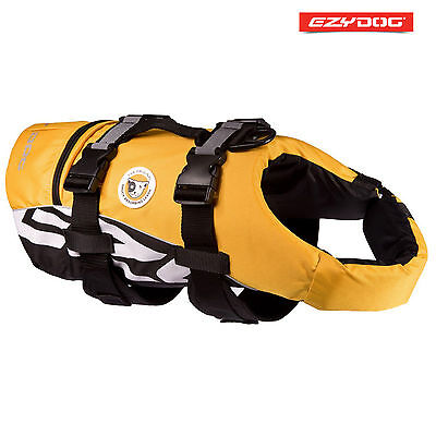EZYDOG DOG FLOTATION DEVICE - Life Jackets For Dogs - Yellow Medium FLOAT