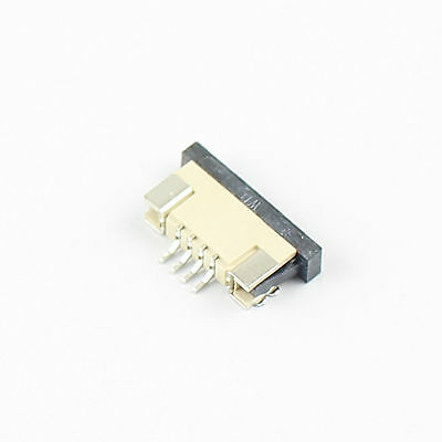10Pcs FPC FFC 1mm 1.0mm Pitch 4 Pin Drawer Flat Cable Connector Bottom Contact