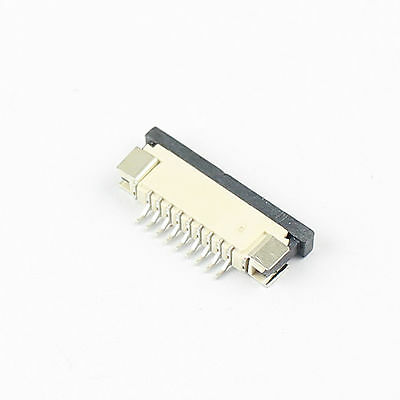 10Pcs FPC FFC 1mm 1.0mm Pitch 9 Pin Drawer Flat Cable Connector Bottom Contact