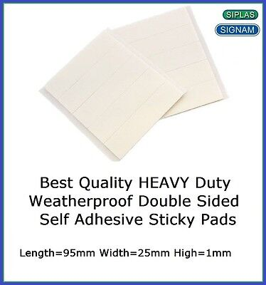 32 X Heavy Duty Weatherproof Number Plate Adhesive Sticky Pads Fixings Free P&P