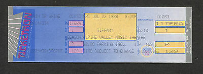 1988 Tiffany Unused Full Concert Ticket Alpine Valley I Think We're Alone Now