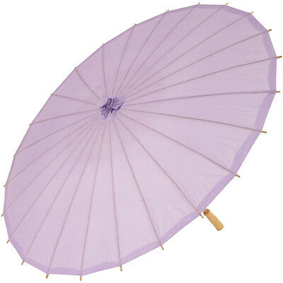 Chinese Paper and Bamboo Parasol - Lavender