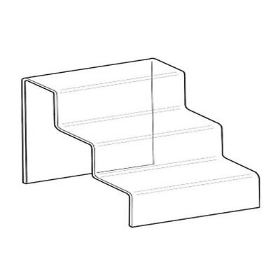 Set Of 2 Nesting Plinth Riser Product 3 Step Stand Acrylic Countertop Display