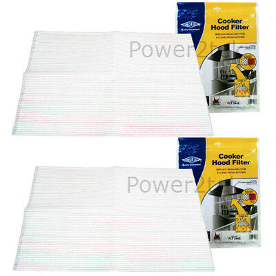 UNIVERSAL COOKER HOOD FILTERS WITH GREASE SATURATION INDICATOR 2 PACK