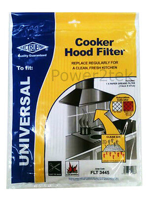 Vendomois Universal Cooker Hood Extractor Grease Filter 114 x 47cm Cut To Size