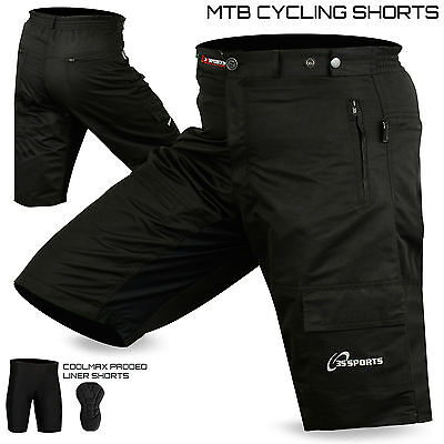 MTB Cycling Short Off Road Bicycle With CoolMax Padded Liner Shorts 3S Sports