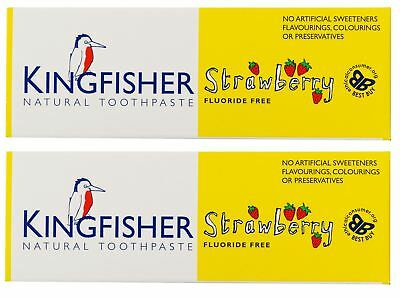 Kingfisher Children's Strawberry Toothpaste - 75ml (Pack of 2)