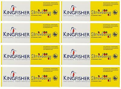 Kingfisher Children's Strawberry Toothpaste - 75ml (Pack of 8)
