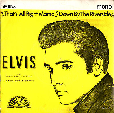 ELVIS PRESLEY that's all right mama / down by the riverside 45RPM 1989 Italy
