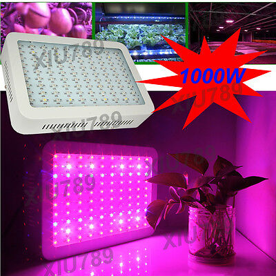 1000W LED Grow Light Panel Full Spectrum For Indoor Hydroponics Plant Vege Fruit