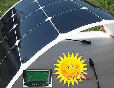 Semi 100W Flexible Solar Panel Class-A Kit for boat caravan motorhome camper USA