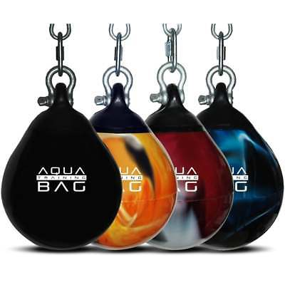 "Aqua Headhunter 9"" Punch Bag Water Filled Black Red Blue"