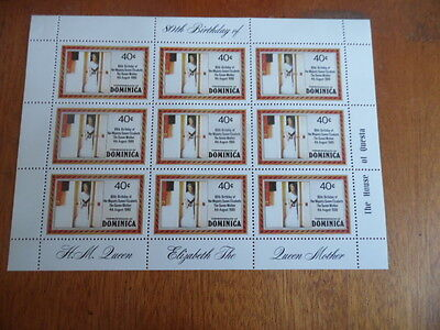 Dominica~ 1980 Queen Mother's 80th Birthday MNH Sheet ~ Sc#676