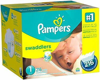 Pampers Swaddlers Diapers Size 1 Economy Pack Plus 216 Count