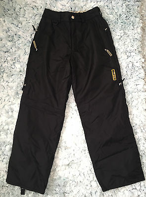 Women's Descente Pant Snowboard Ski Winter Insulated Fleece Lined 8 Snow Black