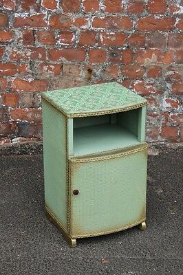 Shabby Chic Pastel Green Distressed Bedroom Bedside Cabinet - Side Lamp Stand