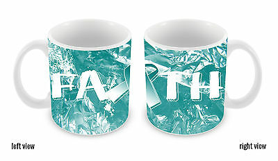 Cervical Cancer Awareness Faith Ribbon 11oz Ceramic Coffee Mug