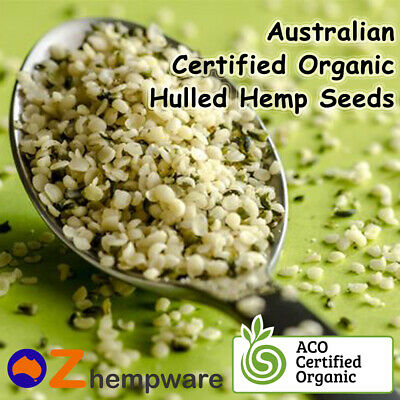 HEMP SEEDS AUSTRALIAN CERTIFIED ORGANIC 250g 1kg 2kg 4kg IMPORTED INGREDIENTS