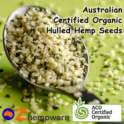 HEMP SEEDS AUSTRALIAN CERTIFIED ORGANIC 250g 500g 1kg 2kg 4kg VEGAN FRESH STOCK