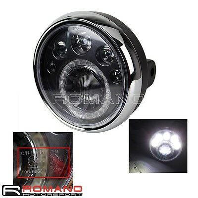 "Emarks 7"" LED Motorcycle Headlight Lamp Fit Fazer Bandit YBR SR400 Cafe Racer"