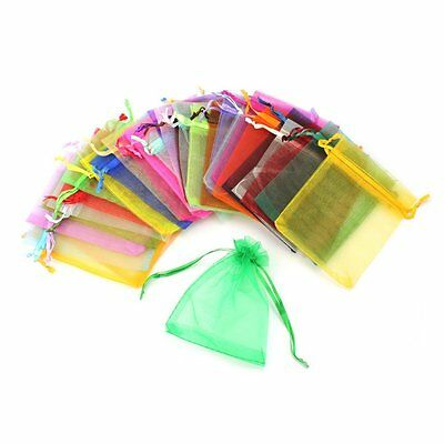 Beautiful 100PCS Organza Gift Bag Jewelry Pouch Wedding Favor Mix Color 9X12CM