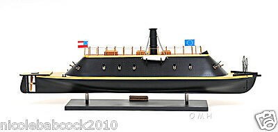 "18TH CENTURY CONFEDERATE  IRONCLAD 28"" WAR SHIP - CSS Virginia Painted"
