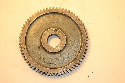 "Excellent MYFORD UK CHANGE GEAR WHEEL 65 TOOTH 5/8"" keyed bore ML7 Super 7 LATHE"