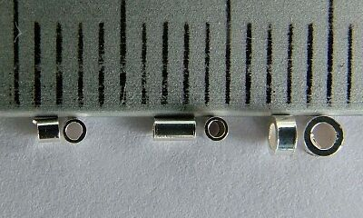 Sterling Silver Crimp Tube Beads Micro Mini 1mm 1.5mm 2mm 3mm x 30