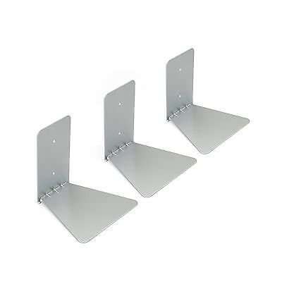 Umbra Conceal Floating Book Shelf Small Silver Set of 3