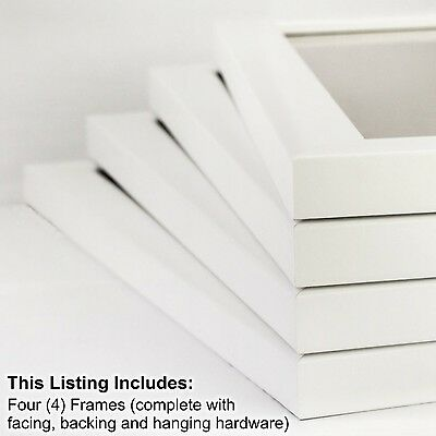 Craig Frames 8 by 10-Inch Picture Frame 4-Piece Set Smooth Finish 1-Inch Wide...