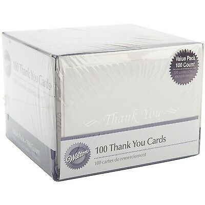 Wilton 100-Pack Basic Thank You Cards