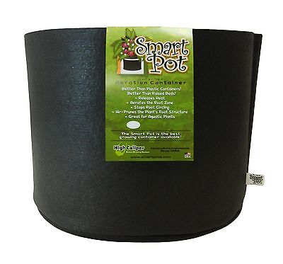 Smart Pots 5-Gallon Smart Pot Soft-Sided Container Black 5-Gal
