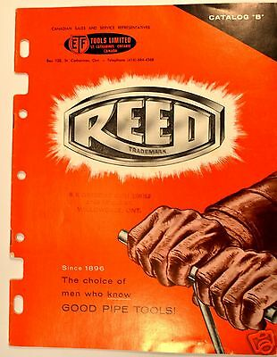 """Reed Catalog """"B"""" Vise wrenches pipe cutters wrench flaring tool  Plumbing #RR12"""